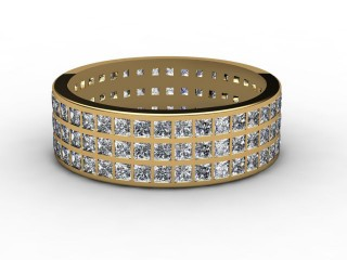 Full Diamond Eternity Ring 2.85cts. in 18ct. Yellow Gold-88-18078