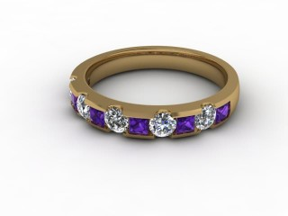 Amethyst and Diamond 0.68cts. in 18ct. Yellow Gold-88-18081-112