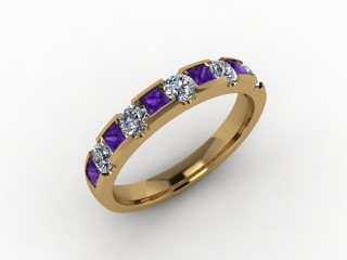 Amethyst and Diamond 0.68cts. in 18ct. Yellow Gold