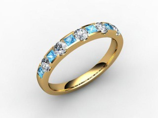 Blue Topaz and Diamond 0.78cts. in 18ct. Yellow Gold