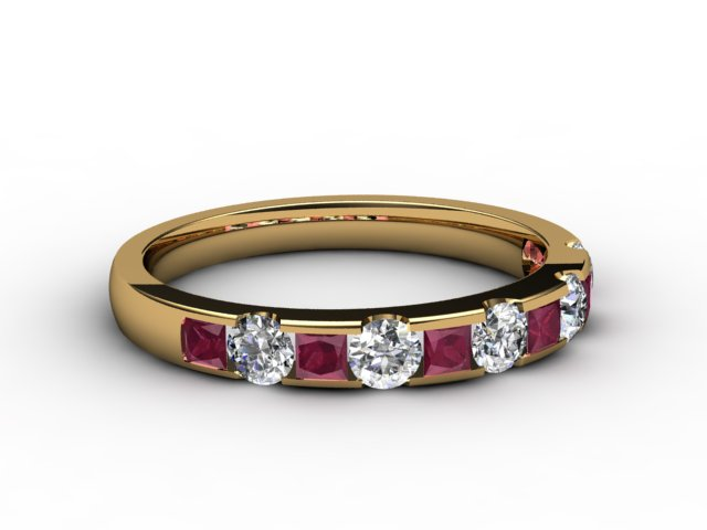 Ruby and Diamond 0.84cts. in 18ct. Yellow Gold