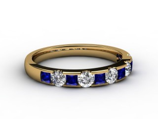 Blue Sapphire and Diamond 0.84cts. in 18ct. Yellow Gold-88-18081-147