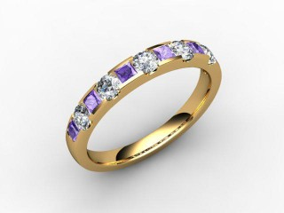 Tanzanite and Diamond 0.76cts. in 18ct. Yellow Gold