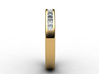 Half-Set Diamond Eternity Ring 0.65cts. in 18ct. Yellow Gold