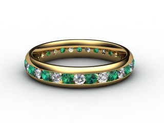 Emerald and Diamond 0.92cts. in 18ct. Yellow Gold-88-18099-116