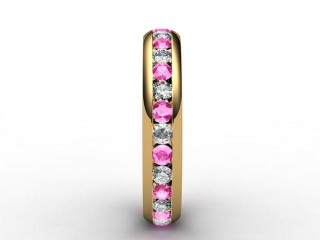 Pink Sapphire and Diamond 0.92cts. in 18ct. Yellow Gold