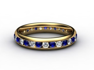 Blue Sapphire and Diamond 0.92cts. in 18ct. Yellow Gold-88-18099-147