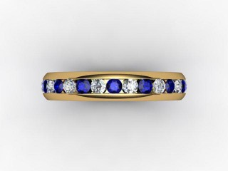 Blue Sapphire and Diamond 0.92cts. in 18ct. Yellow Gold