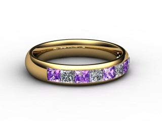 Amethyst and Diamond 1.12cts. in 18ct. Yellow Gold-88-18100-112