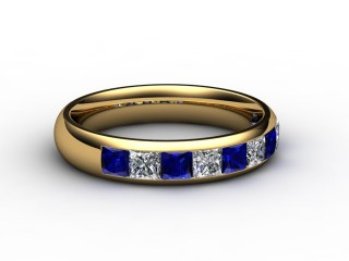 Blue Sapphire and Diamond 1.40cts. in 18ct. Yellow Gold-88-18100-147