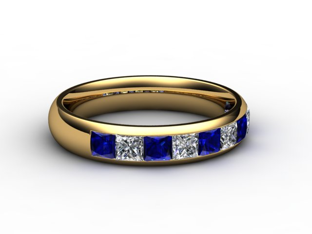 Blue Sapphire and Diamond 1.40cts. in 18ct. Yellow Gold