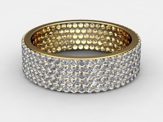 Full Diamond Eternity Ring 1.25cts. in 18ct. Yellow & White Gold-88-18116