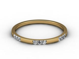 Half-Set Diamond Eternity Ring 0.18cts. in 18ct. Yellow Gold