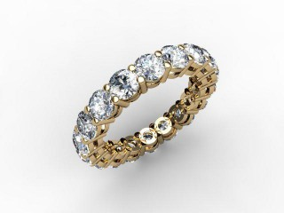 Full Diamond Eternity Ring 2.63cts. in 18ct. Yellow Gold