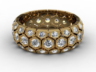 Full Diamond Eternity Ring 2.00cts. in 18ct. Yellow Gold-88-18124