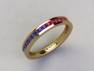 Rainbow Sapphires 1.00cts. in 18ct. Yellow Gold