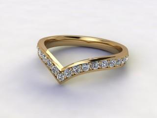 Half-Set Diamond Eternity Ring 0.38cts. in 9ct. Yellow Gold-88-092506