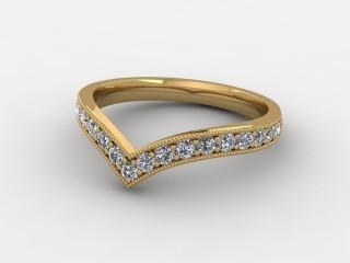 Half-Set Diamond Eternity Ring 0.38cts. in 9ct. Yellow Gold-88-092508