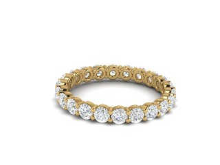 Full Diamond Eternity Ring 1.81cts. in 18ct. Yellow Gold
