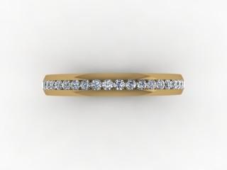 0.26cts. Half-Set 18ct Gold Eternity Ring