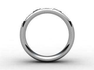 Half-Set Diamond Eternity Ring 0.45cts. in Palladium