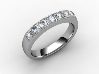 Half-Set Diamond Eternity Ring 0.41cts. in Palladium