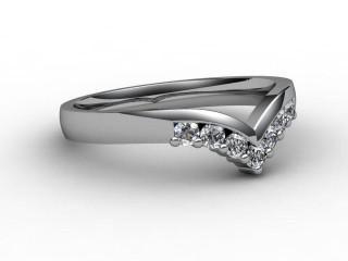 Half-Set Diamond Eternity Ring 0.25cts. in Palladium-88-66015