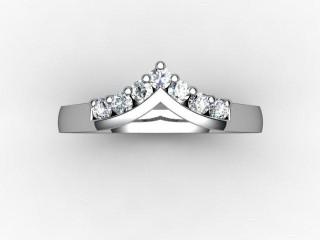 Half-Set Diamond Eternity Ring 0.25cts. in Palladium