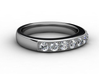 Half-Set Diamond Eternity Ring 0.45cts. in Palladium