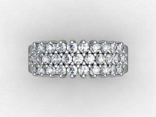 Half-Set Diamond Eternity Ring 0.92cts. in Palladium