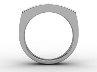 Half-Set Diamond Eternity Ring 1.40cts. in Palladium