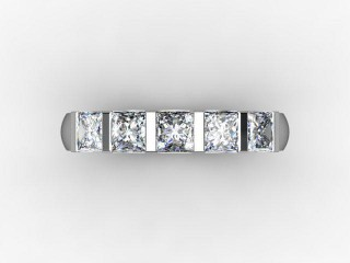 Half-Set Diamond Eternity Ring 1.28cts. in Palladium - 9