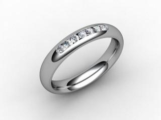 Half-Set Diamond Eternity Ring 0.15cts. in Palladium