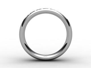 Half-Set Diamond Eternity Ring 0.84cts. in Palladium
