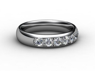 Half-Set Diamond Eternity Ring 0.50cts. in Palladium