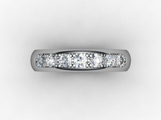 Half-Set Diamond Eternity Ring 0.50cts. in Palladium - 9