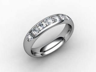 Half-Set Diamond Eternity Ring 0.50cts. in Palladium - 12