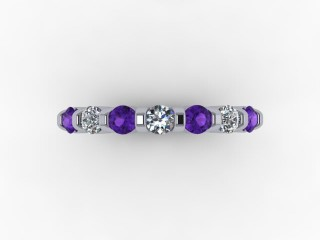 Amethyst and Diamond 0.70cts. in Palladium