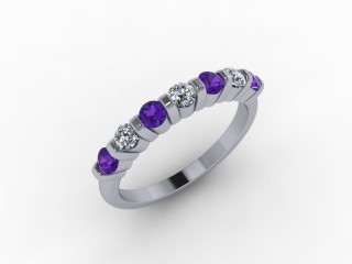 Amethyst and Diamond 0.70cts. in Palladium - 12