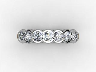 Half-Set Diamond Eternity Ring 0.49cts. in Palladium