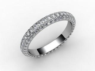 Full Diamond Eternity Ring 1.90cts. in Palladium