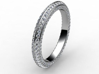 Full Diamond Eternity Ring 1.30cts. in Palladium