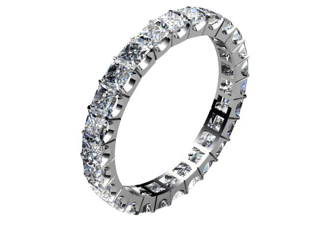 Full Diamond Eternity Ring 3.00cts. in Palladium