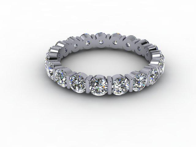 Full Diamond Eternity Ring 1.91cts. in Palladium