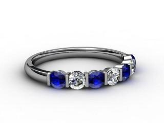 Blue Topaz and Diamond 0.70cts. in Palladium-88-66052-113