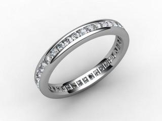 Full Diamond Eternity Ring 0.78cts. in Palladium