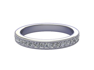 Full Diamond Eternity Ring 0.65cts. in Palladium