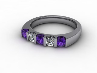 Amethyst and Diamond 0.54cts. in Palladium-88-66056-112