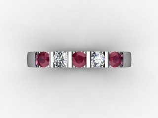 Ruby and Diamond 0.68cts. in Palladium