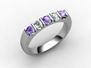 Tanzanite and Diamond 0.61cts. in Palladium